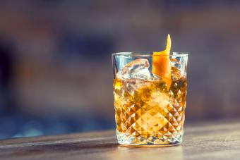 Old fashioned classic cocktail