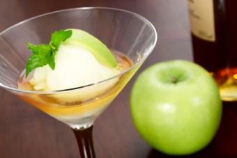 Le Trou Normand is a traditional French dessert consisting of Calvados brandy and green apple sorbet