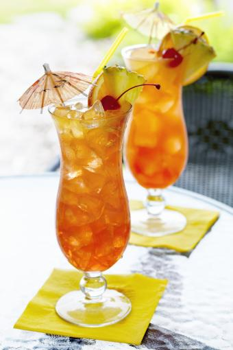Cocktails on an Outdoor Patio