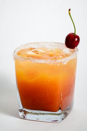 Orange juice and cherry cocktail