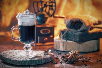 Irish coffee and spices