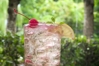 Summer Drink Ice Cold Cherry Soda