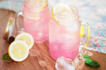 Homemade Organic Pink Lemonade