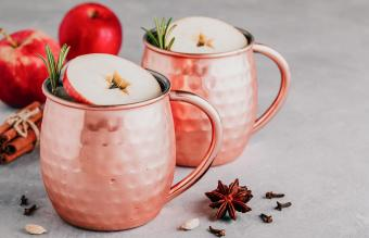 French Apple Mule Cocktail