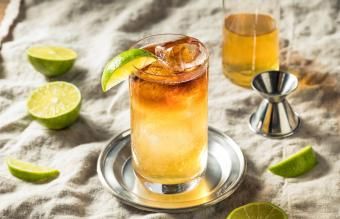 Traditional Dark and Stormy Cocktail