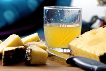 Pineapple Slices And Juice