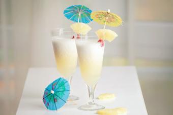 Pina colada cocktails