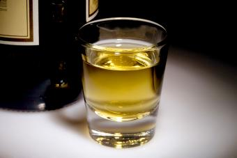 Whisky in a shot glass