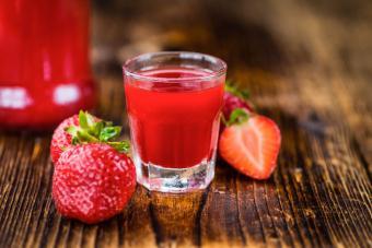 Strawberry Birthday Shot