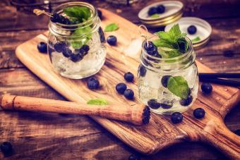 Blueberry Mint Fizz