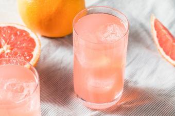 Healthy Fresh Grapefruit Flavored Sparkling