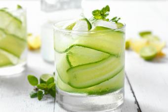 Cucumber Basil Martini