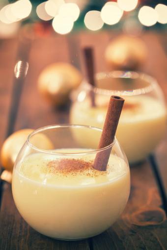 Eggnog with Cinnamon and Nutmeg