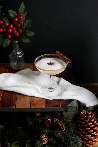Winter Eggnog Martini