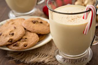 Peppermint Eggnog And Cookies For Two