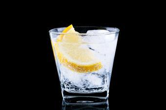 Vodka Tonic drink with lemon