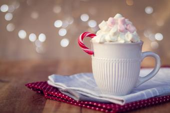 Garnished Peppermint Hot Chocolate