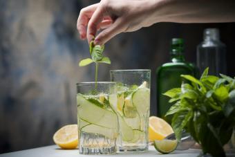 Cucumber, mint and vodka