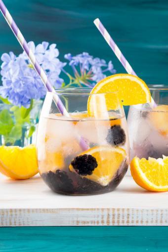 Drink With Blackberries And Orange