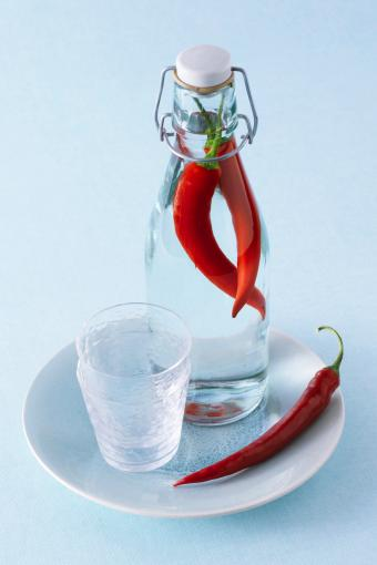Chile pepper infused vodka