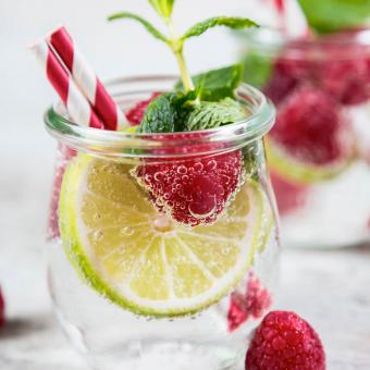Raspberry, Mint, and Lime Gin