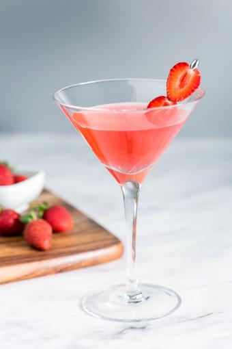 Strawberry Chamomile Maritini