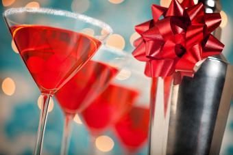 Cherry Christmas Martini