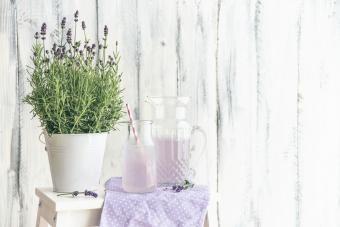 Homemade lavender drink
