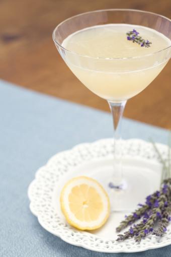 Lemon lavender martini