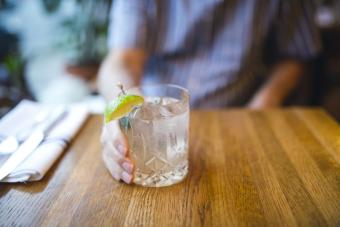 Gin tonic on a table