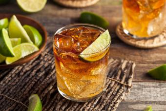 Dark and Stormy Rum Cocktail