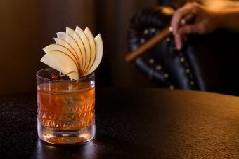 Apple Cider Rum Old Fashioned