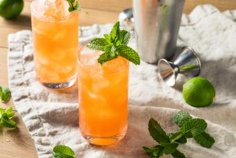 Zombie cocktail with rum and mint