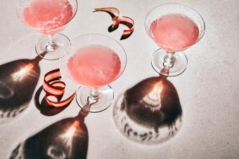 Pink French 75 Martini