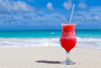 Grenadine With Rum on the beach
