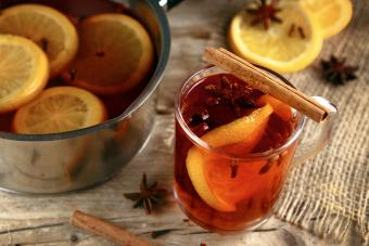 Classic Hot Toddy on wood Table
