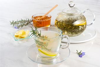 Rosemary Toddy honey and teapot