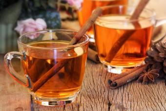 Spiced Toddy with cinnamon sticks