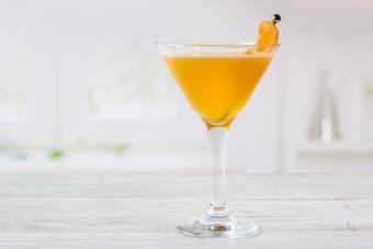 Sparkling Peach Martini