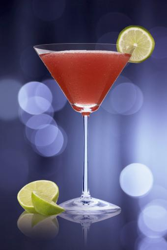 Black Currant Lime Martini
