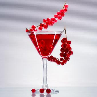 Red Currant Lychee Martini