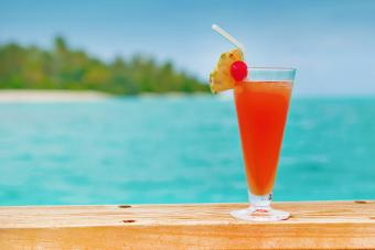 Colorful Drink At A Beach Bar