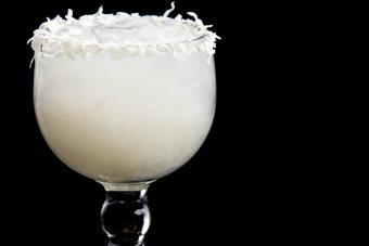 Coconut margarita beverage drink
