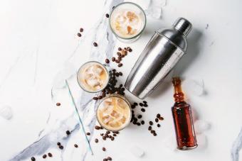 Iced coffee cocktail