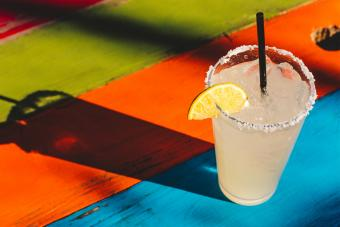 Classic Margarita On Colorful Table