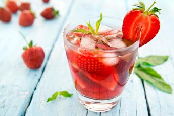 Skinny Strawberry Margarita
