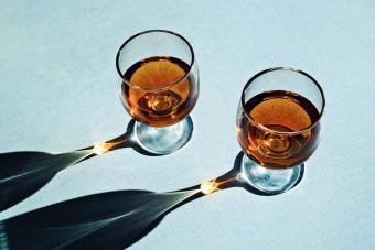 Glasses of Armagnac brandy