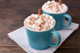 Blue mugs Spiked Hot Chocolate