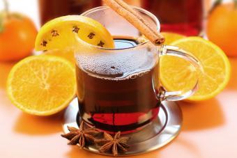 glass of Crisp Toddy with orange, cinnamon, anise