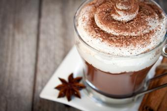 Fiery Hot Chocolate with Whipped cream